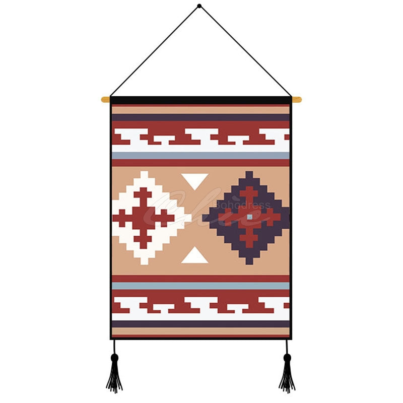 Folk-custom Style Printed Wall Hanging Decoration