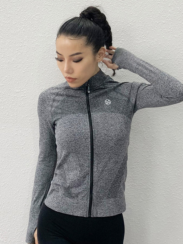 Solid Quick-dry Zipper Hoodies&Jackets