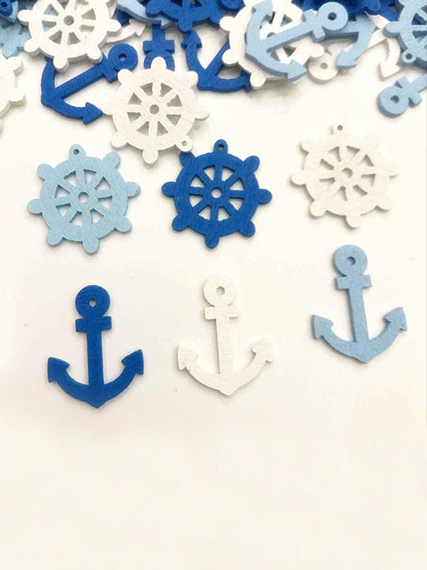 DIY Anchor Rudder Navigation Style Wooden Button