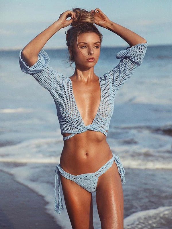 Fresh Bandage Hollow Beach Cover-ups Swimwear