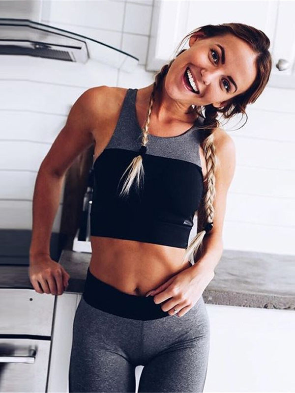 Yoga Racerback Gym Bra And Leggings Suits