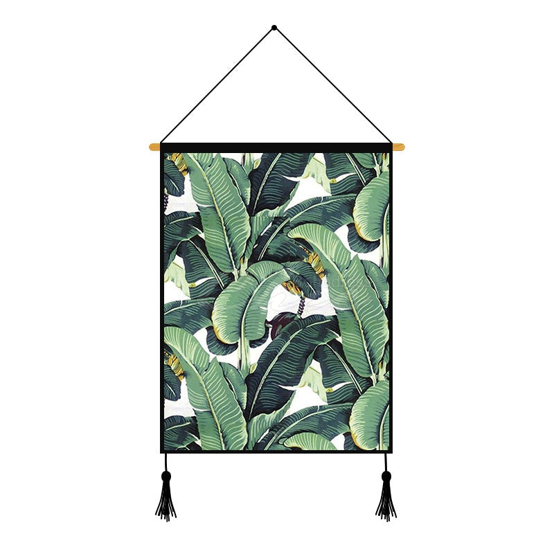 Green Plant Printed Wall Hanging Decoration