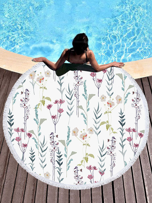 Flower Printed Chic Simple Elegant Beach Mats