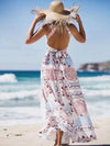 Bohemia Floral Split-side Halterneck Maxi Dress