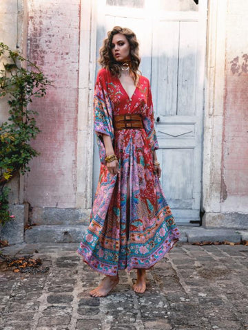 Gypsy Queen Lotus Maxi Dress - KOLCHA COMPANY