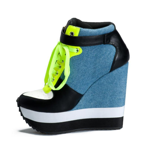 90's Style Wedge Sneakers  shoes  KOLCHA COMPANY