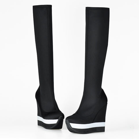 Over The Knee Stretch Sock Boots - KOLCHA COMPANY