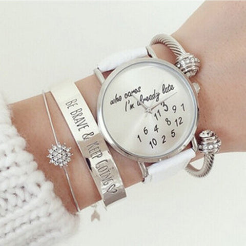 'who cares I'm already late' Wrist Watch  watches  KOLCHA COMPANY