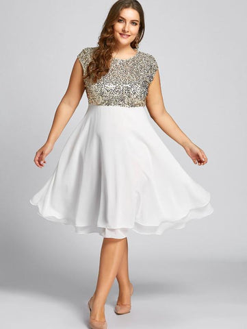 CURVIBES Sequinned Midi Dress - KOLCHA COMPANY