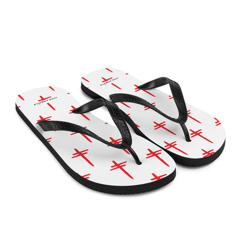 "MIss Krystle ""Crosses"" Flip Flops (NEW ITEM)"