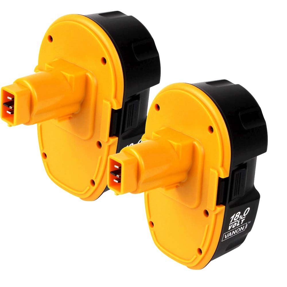 2 Pack For Dewalt 18V Battery 3.0Ah Replacement | High Capacity | New Upgraded | Black and Yellow