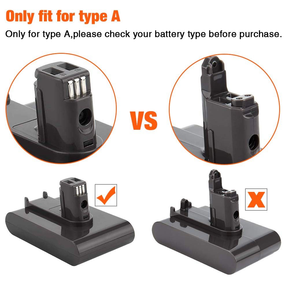 For Dyson Type A Battery DC31 DC34 DC35 DC44 Handheld Vacuum Battery Replacement (Not Fit Type B)