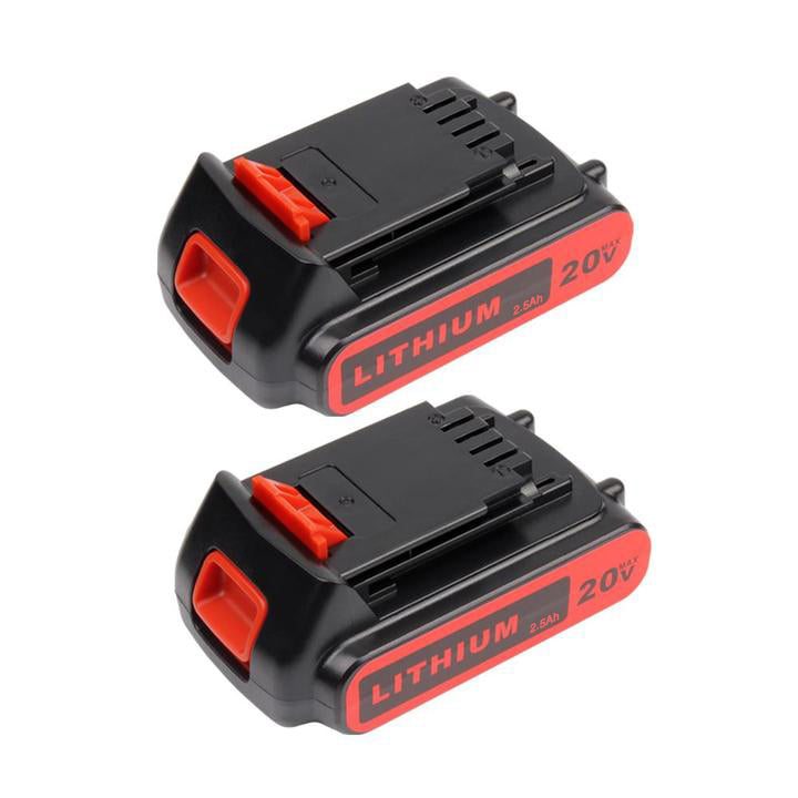 For Black and Decker 20V Battery Replacement | LBXR20 2.5Ah Li-ion Battery 2 Pack