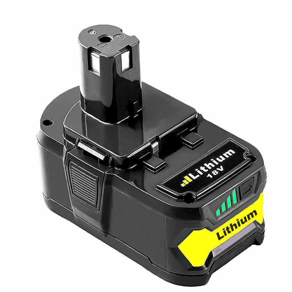 For Ryobi 18V 5.0Ah Battery Replacement | P108 One Plus Lithium Battery