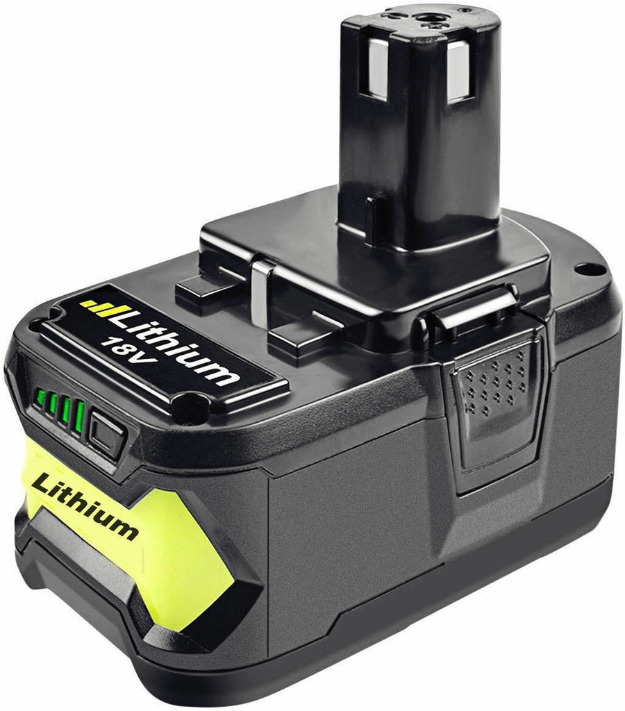Ryobi 18V 5.0Ah Battery Replacement | P108 One Plus Lithium Battery | side