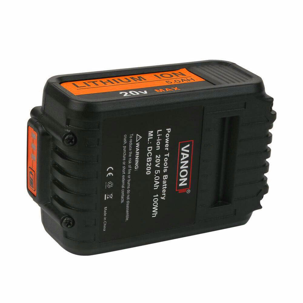 Dewalt 20V Battery Replacement | DCB205 5.0Ah Lithium Ion Battery | bottom