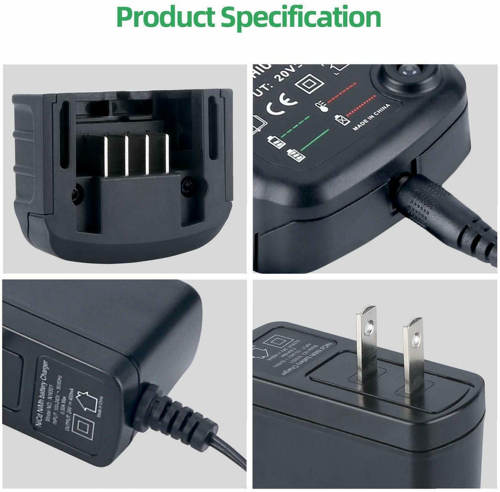 For Black and Decker 10.8V-20V Lithium Charger LCS1620 | LBXR20 LBXR20-OPE Charger