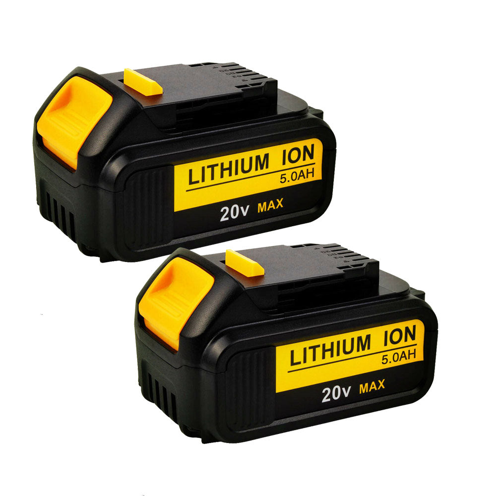 For Dewalt 20V Battery Replacement | DCB205 5.0Ah Lithium Ion Battery 2 Pack