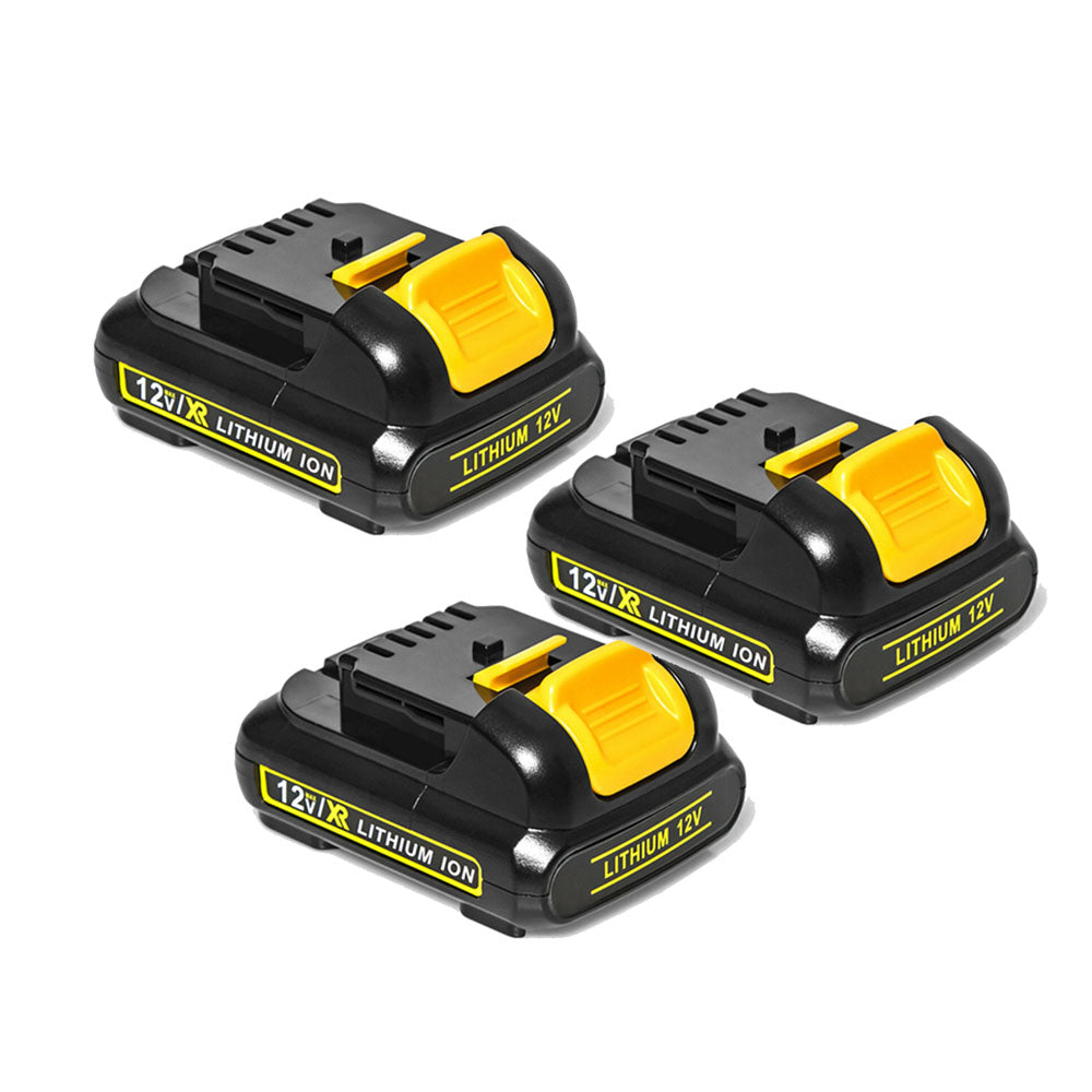 3 Pack  For Dewalt 12V Battery Replacement | DCB120 DCB121 3.0Ah Li-ion Battery