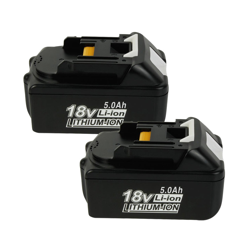 2x For Makita BL1850 Battery | BL1830 BL1840 18V 5000mAh Li-ion Black Battery