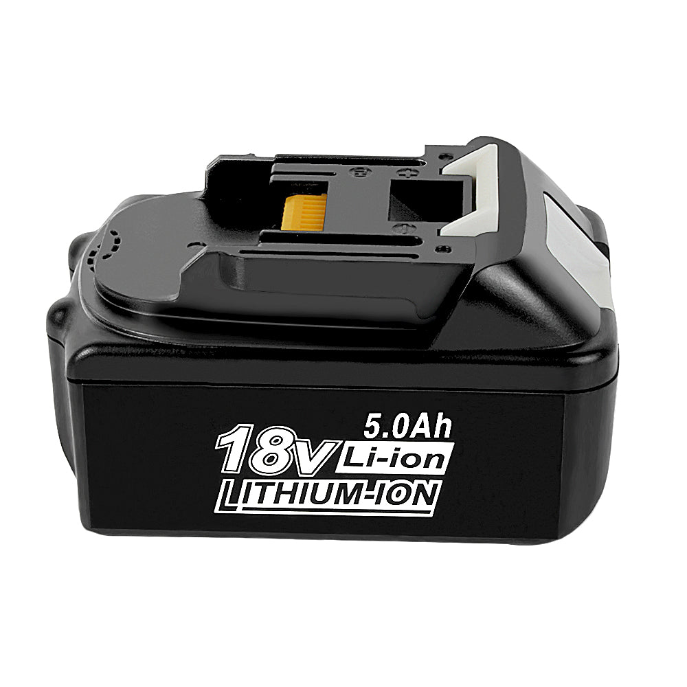 Makita BL1850 Battery | BL1830 BL1840 18V 5000mAh Li-ion Black Battery | right