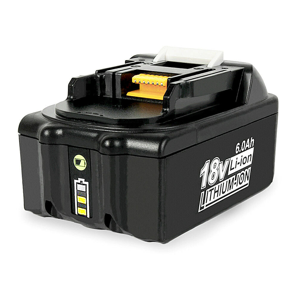Makita 18V Battery Replacement | BL1860B 6.0Ah Battery With LED Indicator I BL1840 BL1850 BL1830 | front
