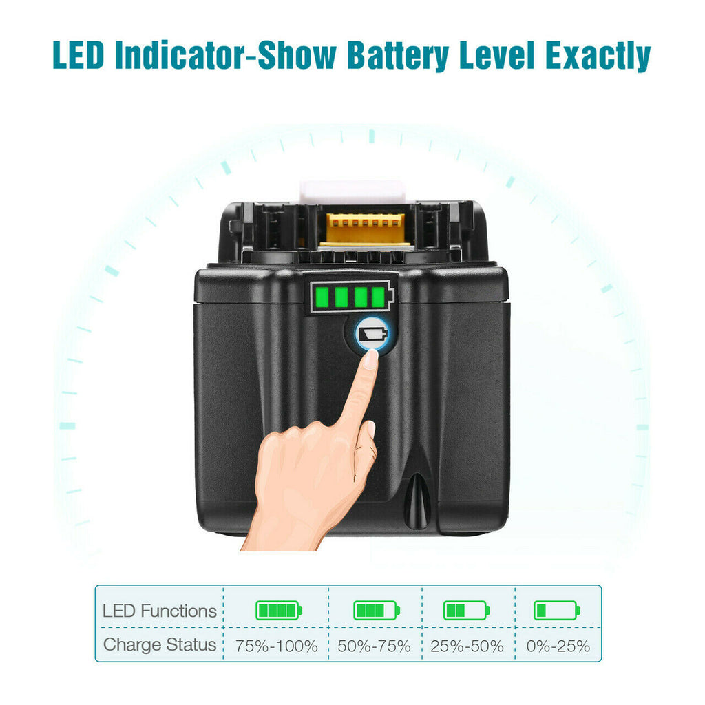 BL1890B Battery Compatible With Makita 18V 9.0Ah Battery Replacement | BL1860 BL1850 BL1840 BL1890 LXT Li-ion Battery