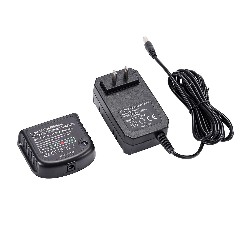 For Black & Decker 9.6V-18V Battery Charger | HPB18 HPB18-OPE HPB14 Ni-Cd & Ni-MH Battery Charger