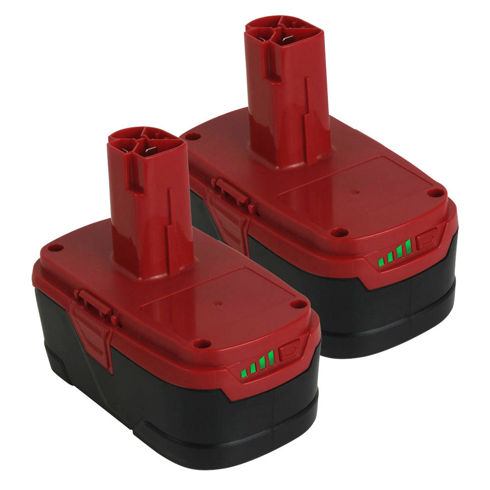 For Craftsman 19.2V XCP 5.0Ah Battery Replacement | Lithium-ion C3 Diehard Battery 11375 PP2025 PP203 2 Pack