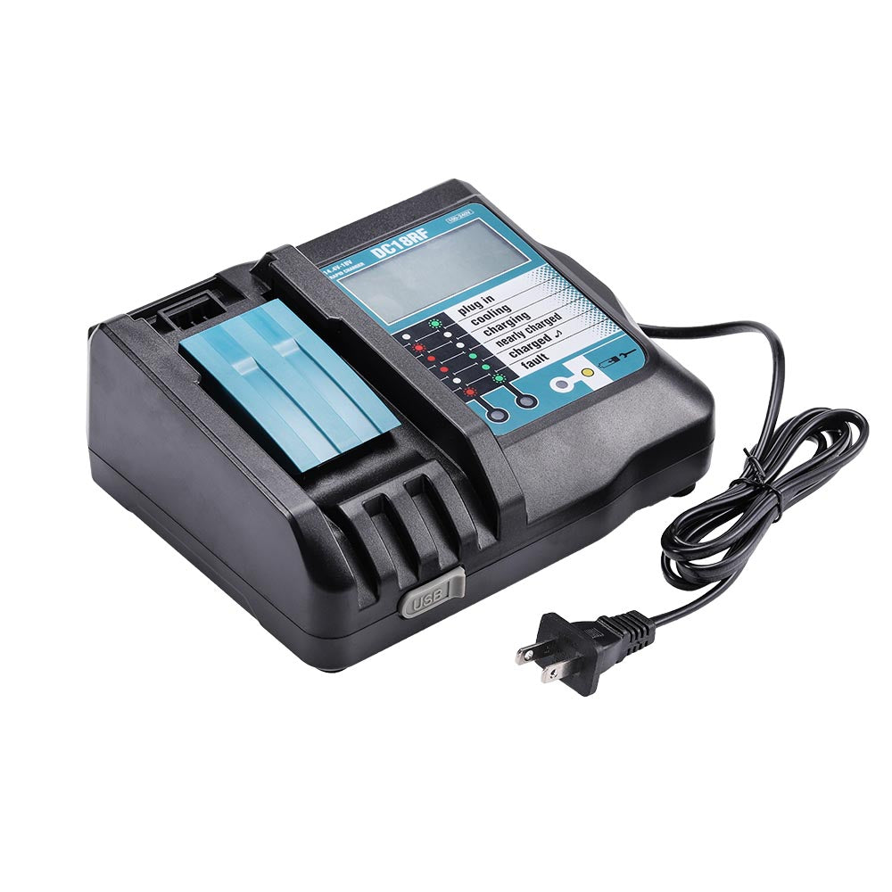 14.4V-18V  Rapid Battery Charger for Makita DC18RF/RC Li-Ion BL1860 BL1850 BL1830