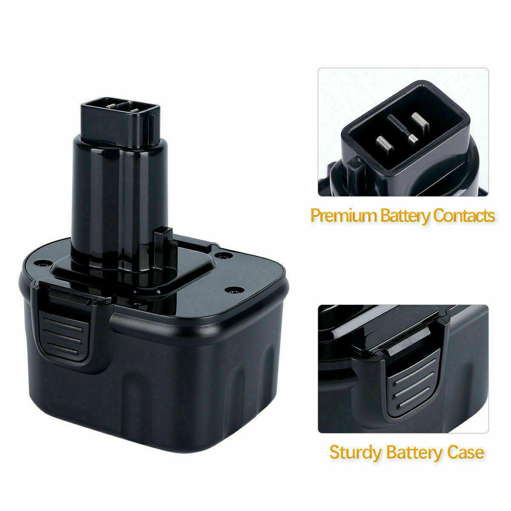 For Dewalt 12V Battery Replacement | XRP DC9071 DW9072 DC742KA DE9074  3600mAH Battery 2 Pack