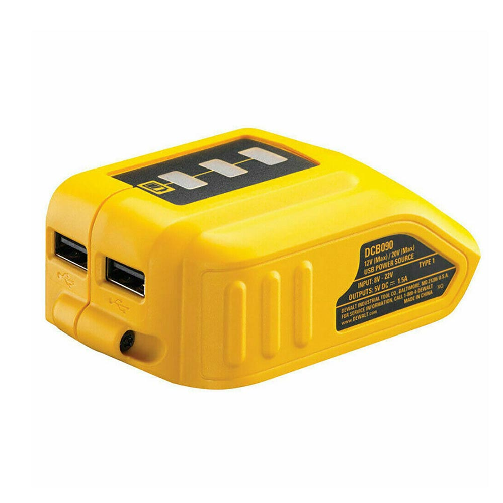 USB Mobile Battery Charger Adapter DCB090 For Dewalt 14V 18V 20V Lithium Battery