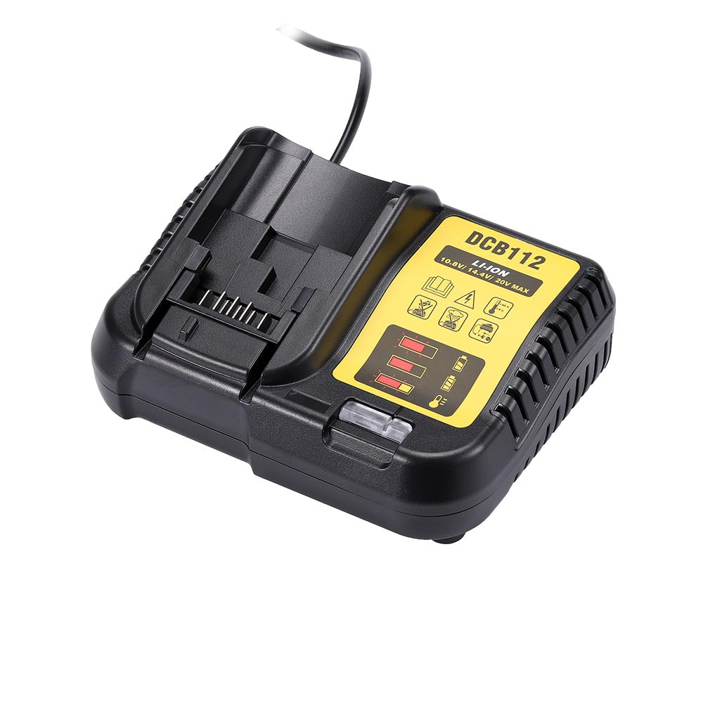 Charger for Dewalt  20V & 12V Li-Ion Battery | Replace DCB115 DCB107 DCB100 DCB112
