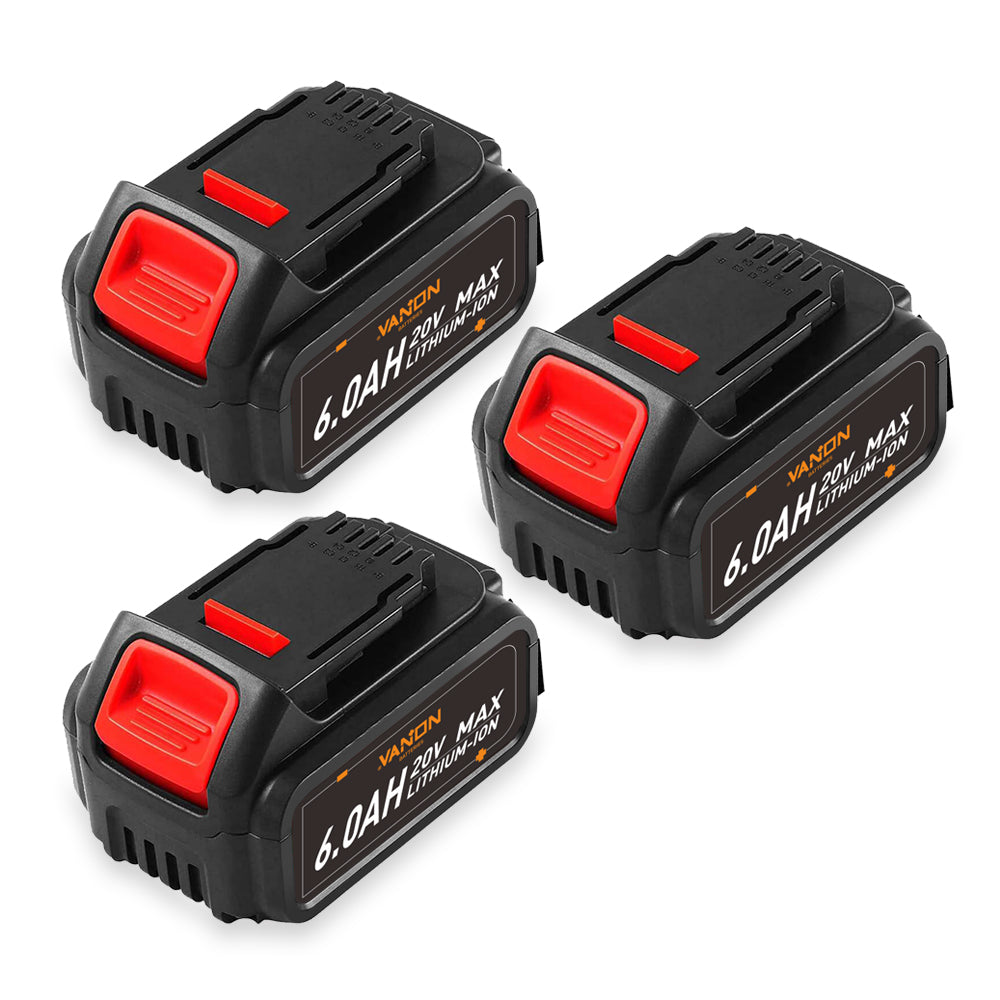 For Dewalt 20v Max Battery Replacement | DCB200 6.0Ah | 3 Pack