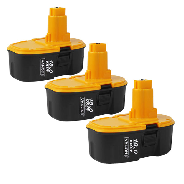 For Dewalt 18V Battery Replacement | DC9096 DC9099 3.0Ah 3Pack