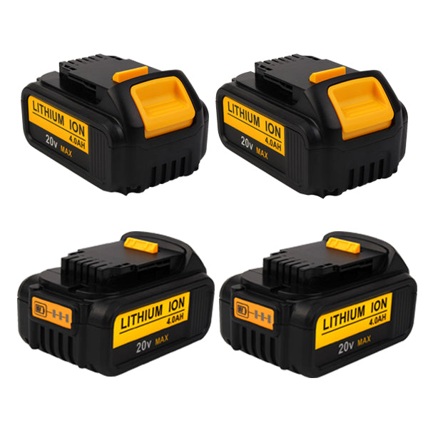 For Dewalt 20V Max Battery Replacement | XR 4.0Ah Li-ion Battery 4 Pack