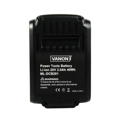 4 Pack For Dewalt 20V DCB203 DCB201 2.0Ah Battery Replacement Li-ion