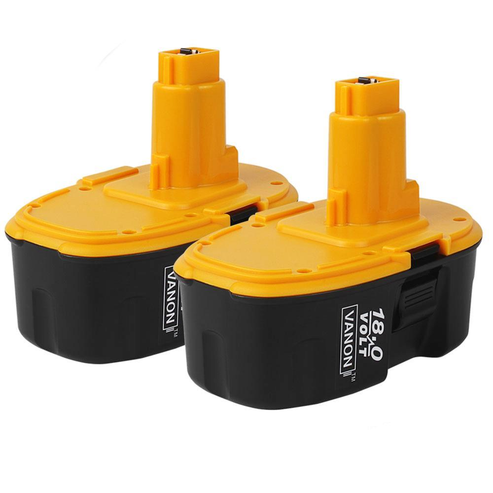 For Dewalt 18V Battery Replacement | DC9098 DC9099 3.0Ah 2Pack