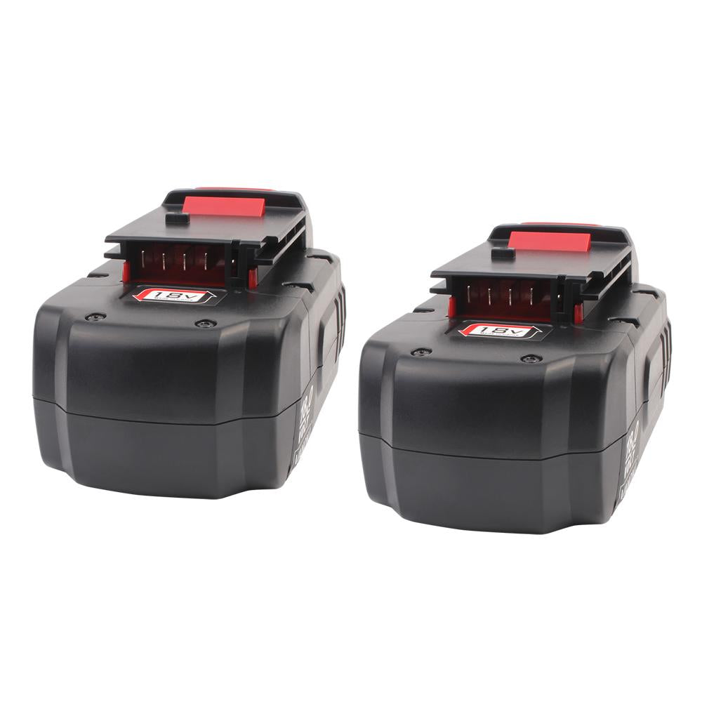 2 Pack For Porter Cable 18v Pc18b Battery Replacement Triple Batteries