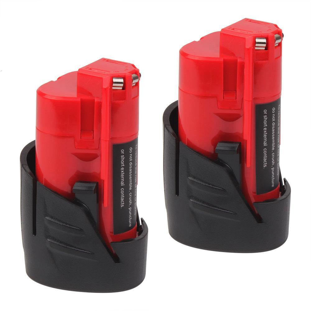 For Milwaukee 12V M12B Battery Replacement | 2.0Ah Li-ion Battery 2 Pack - Vanonbattery
