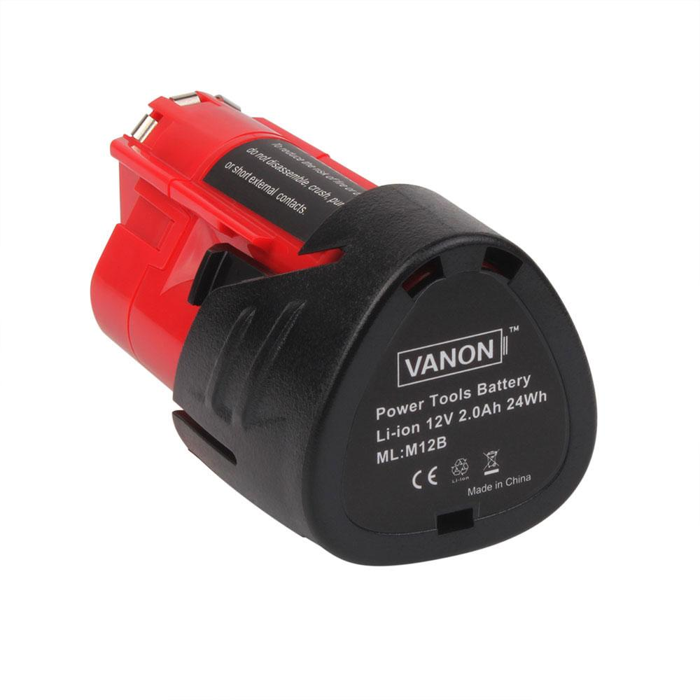 For Milwaukee 12V Battery Replacement | M12B 2.0Ah Li-ion Battery - Vanonbattery