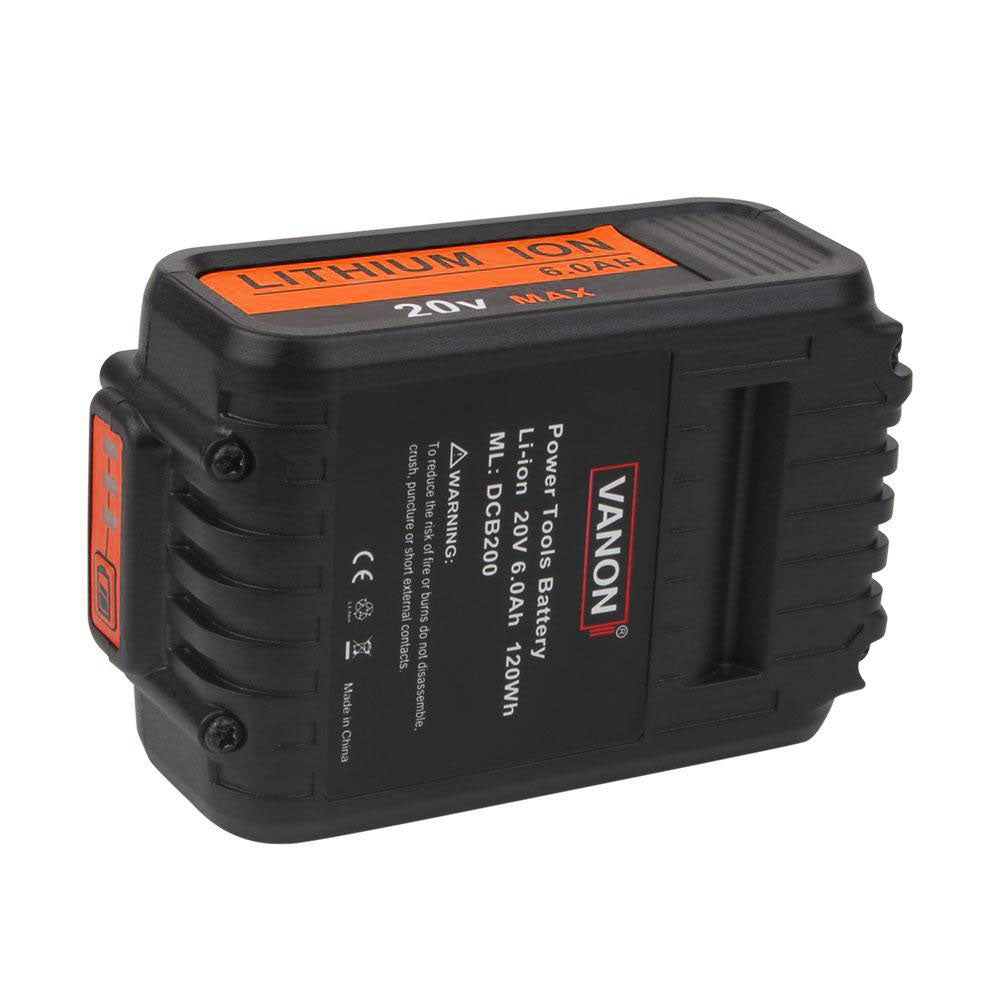 Dewalt DCB200 20V Max Battery Replacement | Li-ion Battery 6.0Ah | bottom