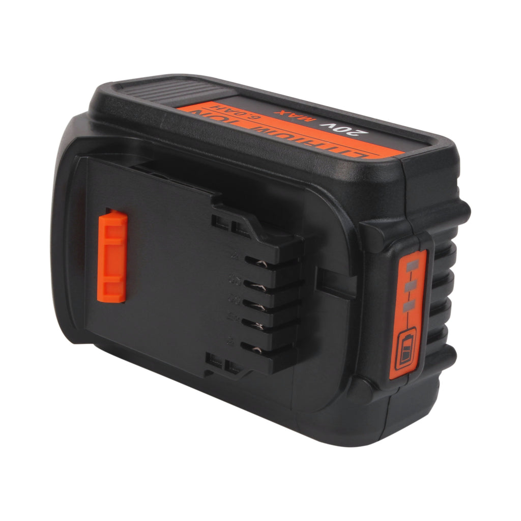 Dewalt 20V Max XR Battery Replacement | DCB200 6.0Ah | top