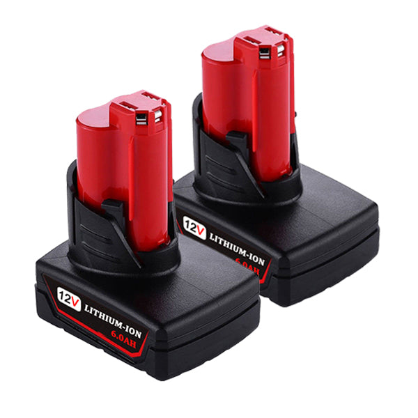 For Milwaukee M12 Battery Replacement | Milwaukee 12V 6.0Ah Li-ion Battery 2 Pack
