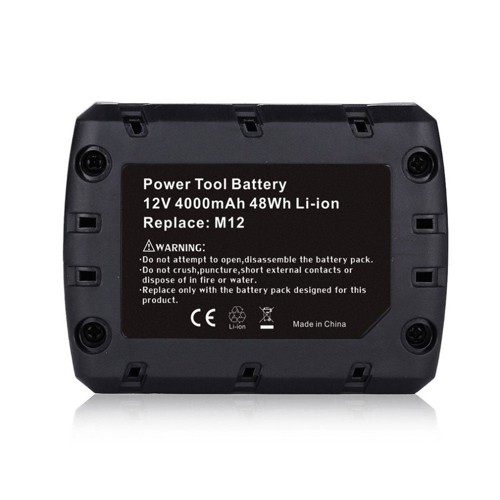For Milwaukee 12V Battery Replacement | M12 4.0Ah Li-ion Battery 2 Pack