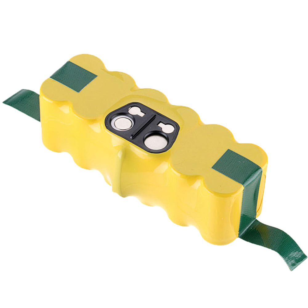 4.5Ah For iRobot Roomba 14.4V Battery | High Capacity NI-MH Yellow | back