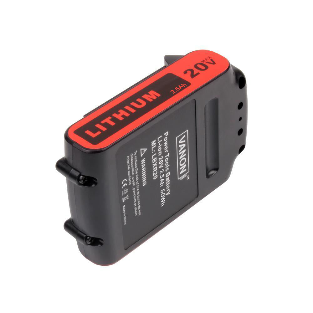 For Black and Decker 20V Battery Replacement | LBXR20 2.5Ah Li-ion Battery