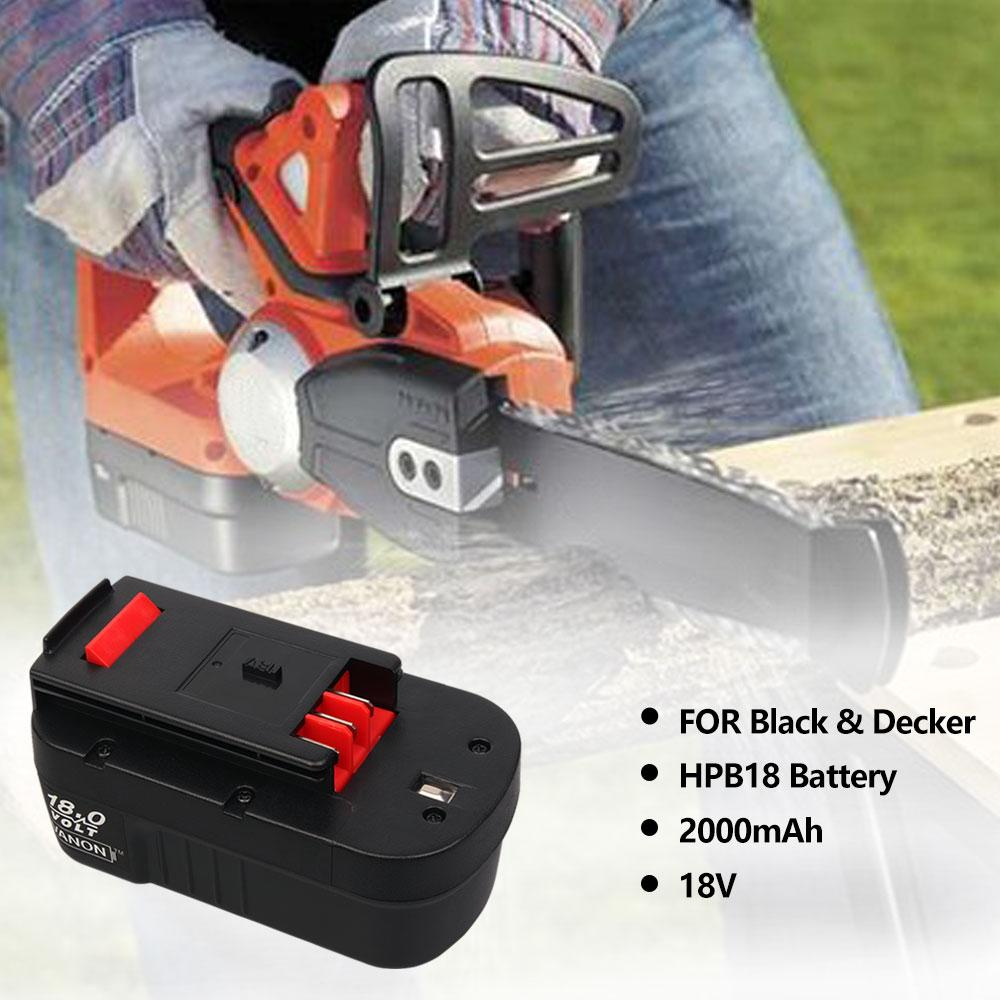 For Black and Decker 18V Battery Replacement | HPB18 2.0Ah Ni-Cd Battery - Vanonbattery