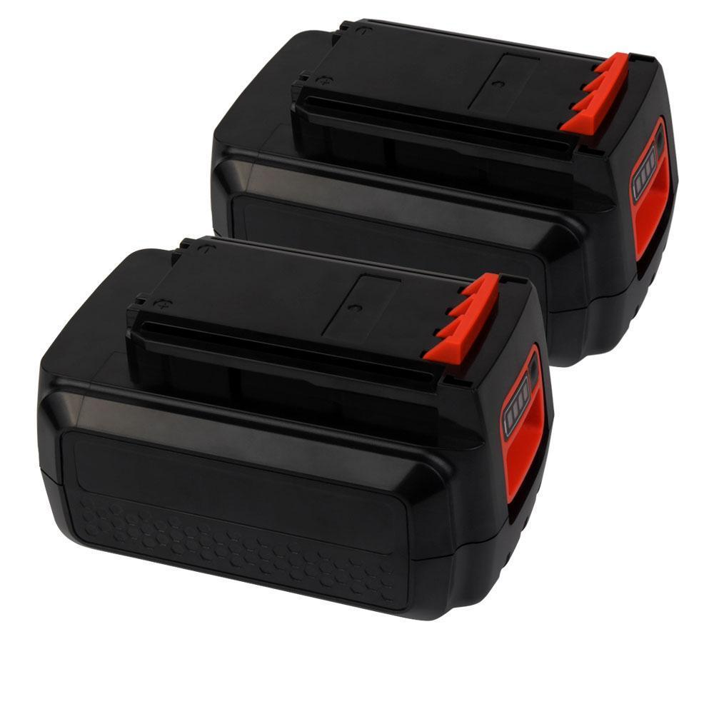 2x For Black and Decker 40V LBXR36 Battery Replacement | 2.0Ah Li-ion Battery - Vanonbattery