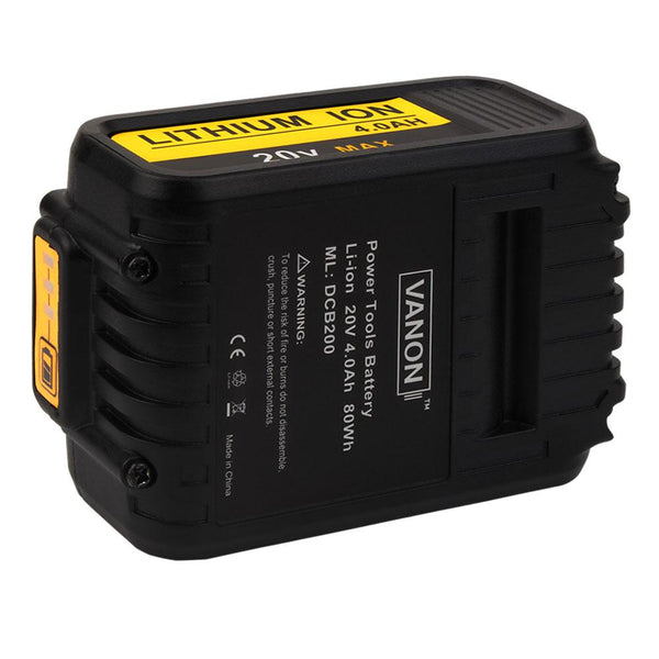 For Dewalt 20v Max Dcb200 4 0ah Battery Replacement Li